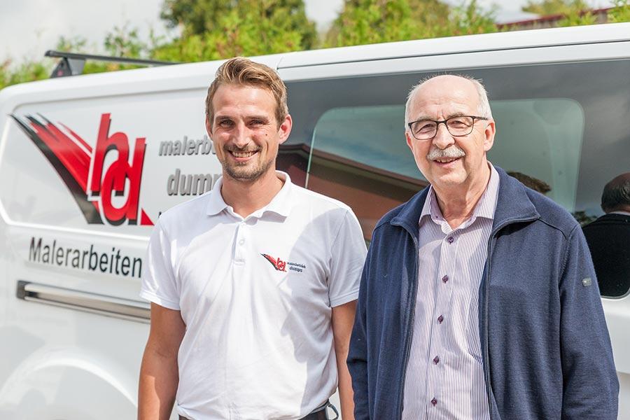 Dominik Schwientek und Hans Dumps