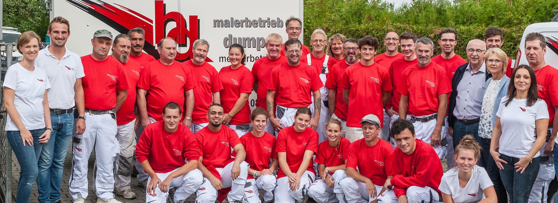 Team von Maler Dumps in Oberahrain